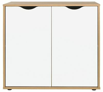 Hygena Berkeley Storage Cupboard White Office Files Organizer Office Cabinet