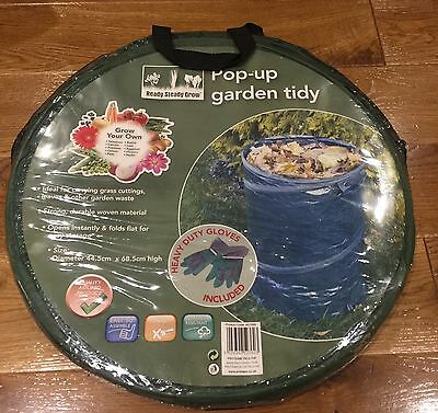 Pop Up Garden Bag With Heavy Duty Gloves BRAND NEW
