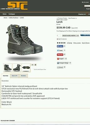 STC LARCH safery boots CSA approved size 4,5,8,8.5,12