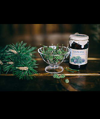 Jam made from pine cones!!! Unique and very useful from Russia!!! 430 grams