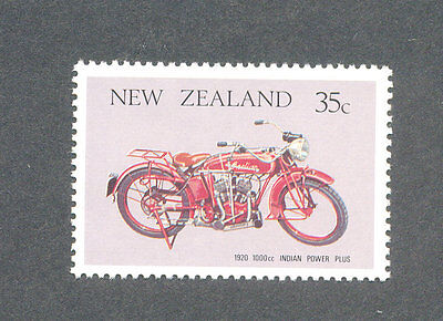 Vintage Motorcycle-Indian Power Plus Motorbike(New Zealand)mnh - 1976 issue