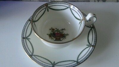 Old AYNSLEY CUP AND SAUCER . Bone China.