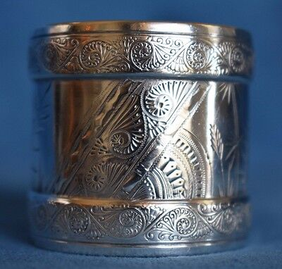 Antique GORHAM American Aesthetic Japanese Movement Sterling Silver Napkin Ring