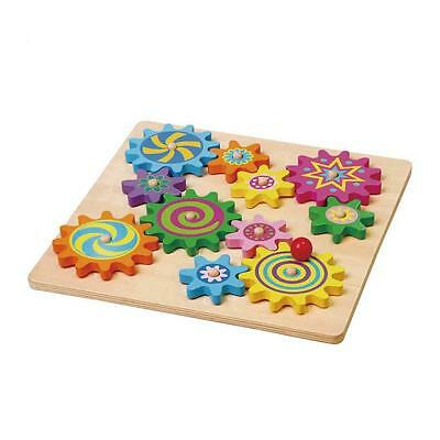 Viga Wooden Colourful Spinning Gear Puzzle
