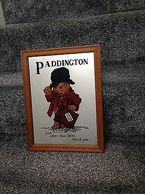 Vintage 1970's Paddington Bear Picture Mirror - Wanted On Voyage - Kids Bedroom