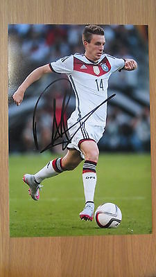 "Hand Signed "" Patrick Herrmann - GERMANY "" 12"" x 8"" photograph WITH COA"