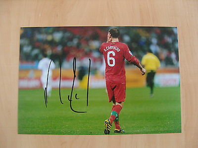 "Hand Signed ""RICARDO CARVALHO - PORTUGAL "" 12"" x 8"" photograph (PROOF) WITH COA"