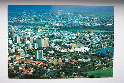POSTCARD Vintage AERIAL VIEW of ADELAIDE S.A. Dated 1979 SOUTH AUSTRALIA Excell