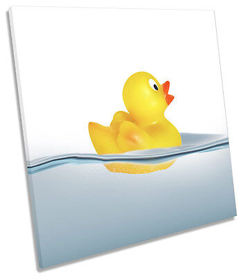 BATHROOM RUBBER DUCK CANVAS WALL ART Picture Square Print - £24.99 ...