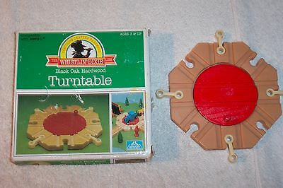WHISTLIN' DIXIE Brio Compatible Wood Turntable New in Box Slightly Damaged
