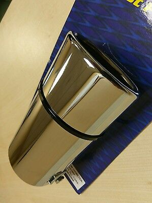 Oval Chrome Stainless Steel Car Tail Exhaust Pipe Tip End Trim Racing Muffler