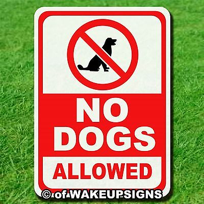 """No Dogs Allowed  Sign 10"""" By 14"""" Aluminum Metal For Pets"""