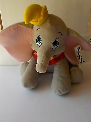"Disneyland Resorts Dumbo Plush Stuffed Animal 15"" With Tags Elephant Disney"