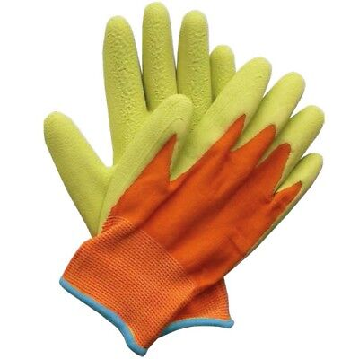 Briers Kids Junior Digger Green & Orange Gloves (age 5-9) B5314