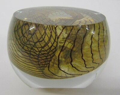 Glass Paper Weight signed dated 1991 Collectable