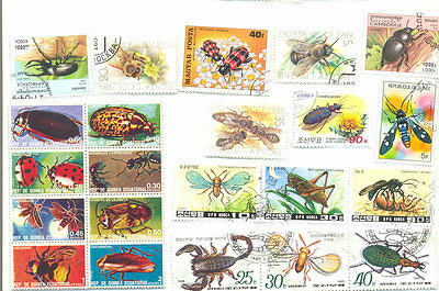 Insects-100 different mainly Beetles-Bees etc(butterflies in separate packet)