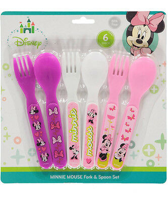 "Minnie Mouse ""Bows & Butterflies"" 6-Piece Fork & Spoon Set"
