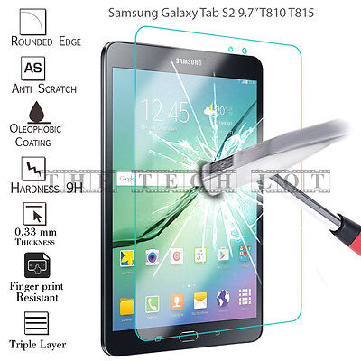 """Samsung Galaxy Tab Protector Tempered Glass 100% Genuine For Tablet S2 9.7"""" T810"""