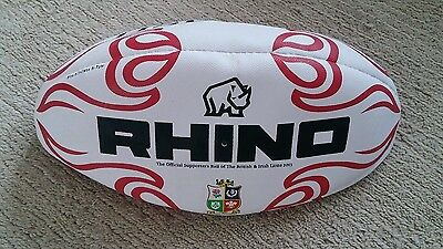 NEW Rhino British Irish Lions SIZE 5 Official Replica Rugby Ball 2013 HSBC