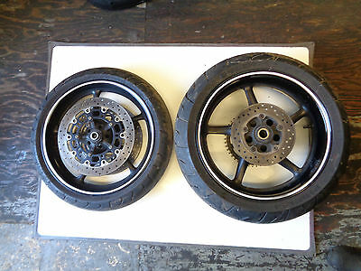 "2007 Yamaha Yzf R6 600Cc 2C0 - 17"" Front & Rear Wheels With Tyres & Discs"