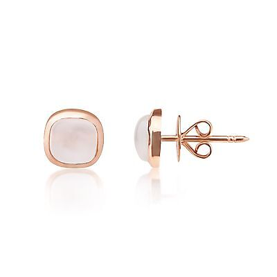 3.00Ct Moonstone 9Ct Rose Gold Stud Earrings Uk Hallmarked Rrp £135