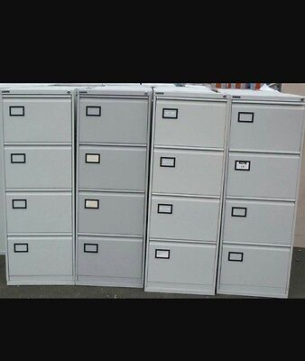 4 drawer filing cabinet with key and lock