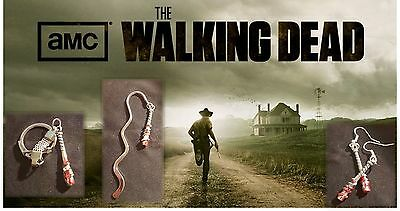 Lucille Walking Dead Bookmark, Keyring or Earrings with BLOOD