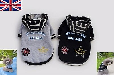 New Pet Dog Puppy Sweater Hoodie Coat For Small Pet Dog Warm Costume Apparel UK