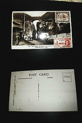 Aden picture postcard 3/4a, 1.5a used 1948 (11bde)