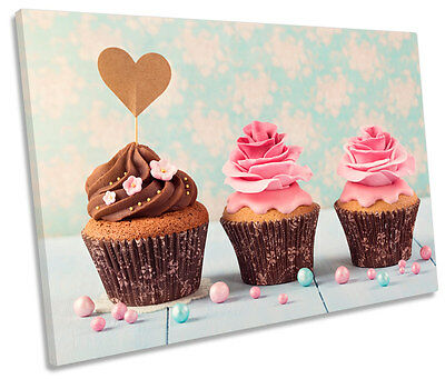 Food Cakes Kitchen Canvas Picture Print Wall Art B477