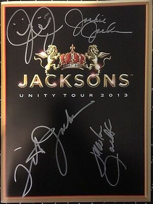 The Jacksons 2013 Unity Tour Programme Signed / Autographed