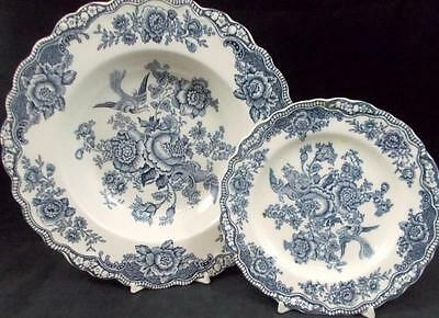 Crown Ducal BRISTOL BLUE Bread & Butter Plate + Rim Soup Bowl GREAT CONDITION