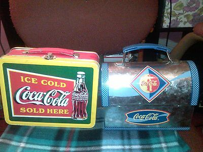 Collectible  Two Coca-Cola Tin Lunch Boxes  2 Of Them