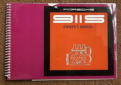 Porsche 911 S Drivers  Manual Parts  Original 69 Rs
