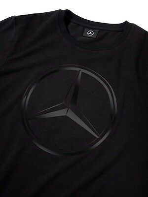 Genuine Mercedes-Benz Mens Black 3D Star Logo T-Shirt - Choice of Size NEW