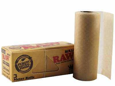 RAW Classic Roll Rips Purest Natural Fibre Unrefined 3 Meter Rolling Paper *NEW*