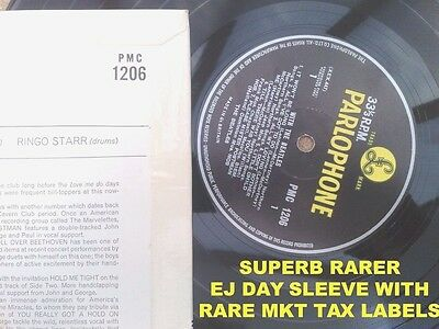 """"""" With The Beatles """" Uk Mono In Rare Superb Ej Day Sleeve & Rare Mkt Tax"""