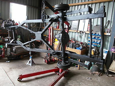 Triumph Tr3 Chassis C/w Rear Axle/hubs And Springs,