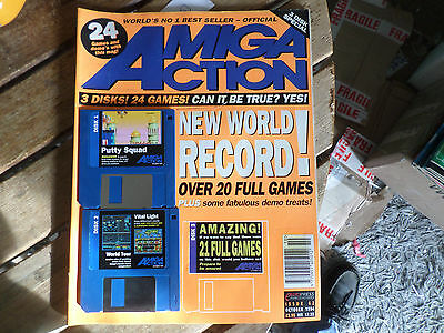 Amiga Action issue no 62 with cover disk/s  in fair/good condition as pictured