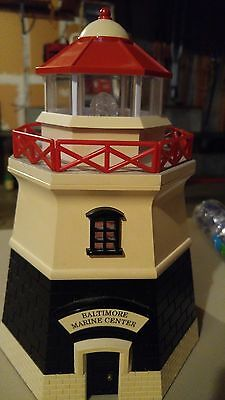 Vintage Animated Plastic Lighthouse Cookie Jar with Working Light and Foghorn
