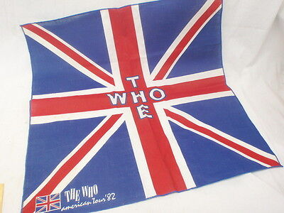 Small Vintage The Who American Tour '82 Banner