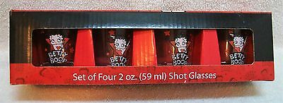 Betty Boop Set of 4 Shot Glasses NIB