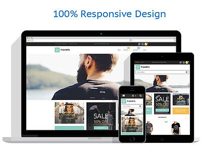 T Shirt Ecommerce Shop Magento- Theme - Complete Clothing Store Website