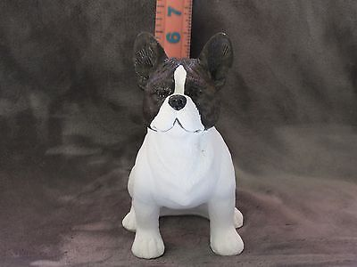 French Bulldog Plaster Dog Statue Hand Cast And Painted By T.c. Schoch