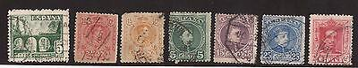 Collection Of Old Spanish Correos & Sello Stamps - Used -  See Scan