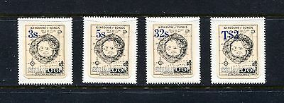 Tonga (Tin Can Island) 19-22 (4), 1983 Map Type, Self Adhesive (Id0515))