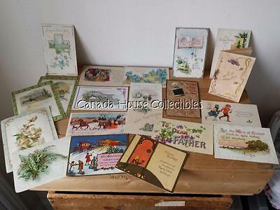 Lot of Antique Postcards, Prayer Cards and Other Cards