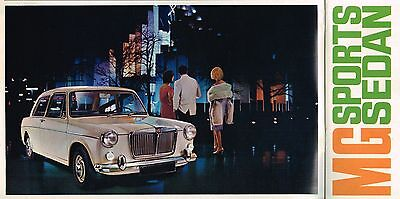 1966 MG SPORTS SEDAN Brochure / Catalog with Specifications: M-G