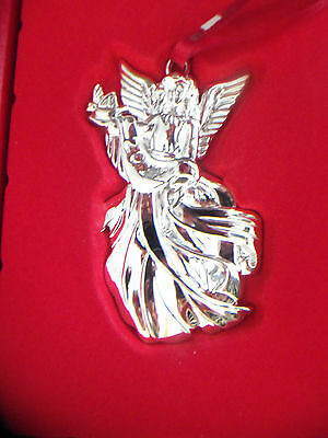 2012 Waterford Angel of Peace Silver-Plated Ornament NEW