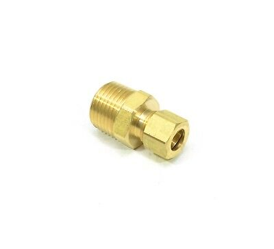 "3/8"" Tube OD Compression Copper to 1/2"" NPT Male Fitting Adapter Connector"